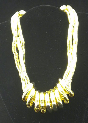 "Gold 3-Strand Necklace 18"" (Each)"