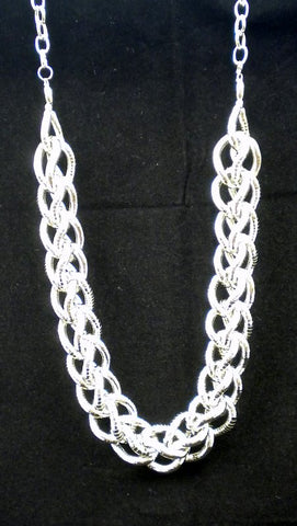 "Long Silver Linked Chain Necklace 36"" (Each)"