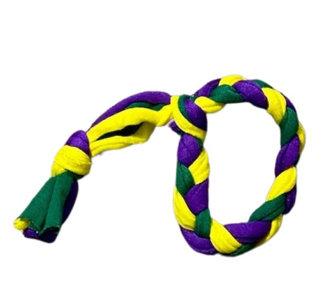 The Theia - Braided Purple, Green and Gold Bracelets from Recycled T-Shirts (Each)