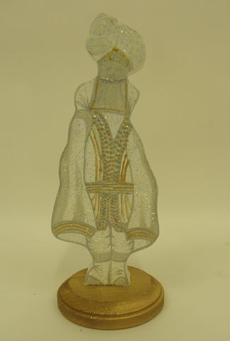 "10"" Gold or Silver  Krewe Captain Wood Table Decoration (Each)"