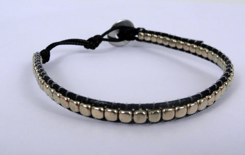 Black and Gold Beaded Bracelet (Each)