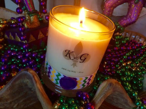 King Cake Soy Wax Candle 10oz (Each)