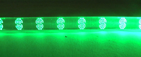 LED Green Bracelet with Dollar Sign