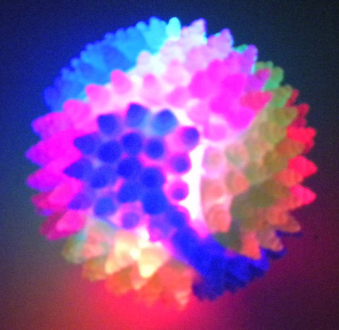 LED Textured Bounce Ball 8cm with Multicolor Lights