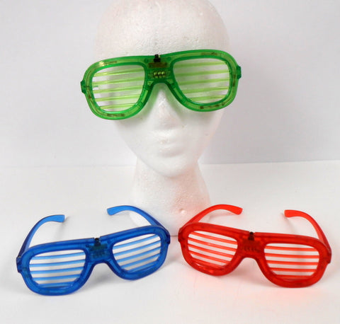 LED Assorted Color Glasses with Single-Color Light