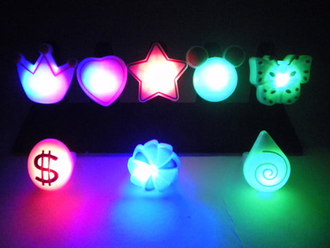 LED Ring - 8 Assorted Styles
