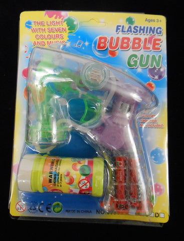 LED Bubble Gun with RGB Lights