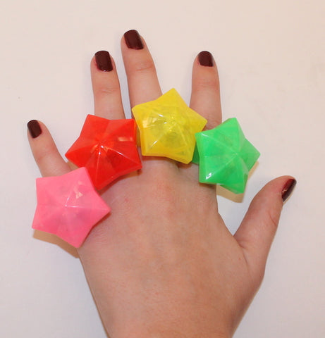 LED Star Ring - Assorted Colors (Each)