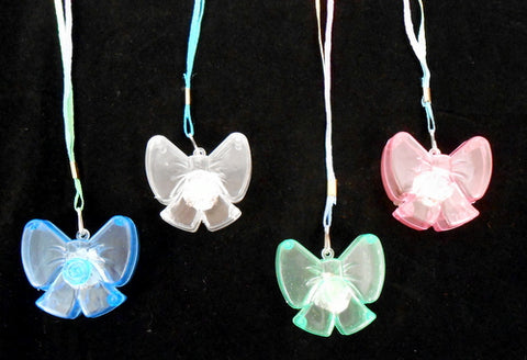 LED Bow Necklace - Assorted Colors