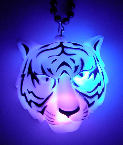 "36"" Black Bead with LED Tiger Head (Dozen)"