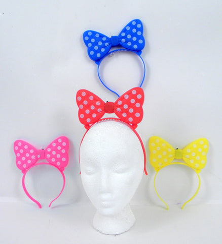 LED Bow Headband - Assorted Colors