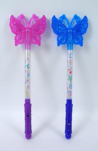 Light-Up Butterfly Top Wand - Assorted Colors