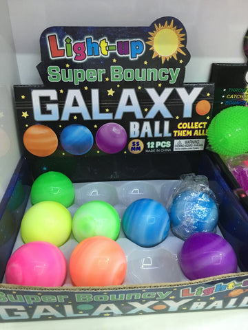 "2"" LED Galaxy Bounce Ball - Assorted Colors"