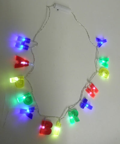 LED Happy Birthday Necklace