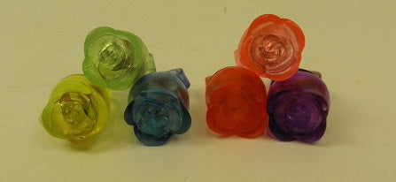 LED Rose Jelly Ring - Assorted Colors