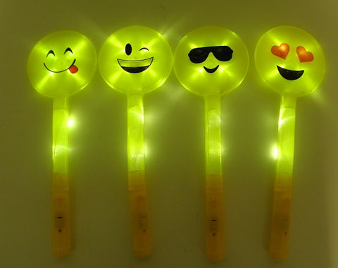LED Emoji Wands with Assorted Faces