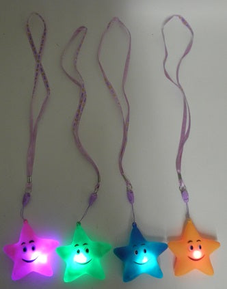 LED Starfish with Lanyard Necklace - Assorted Colors