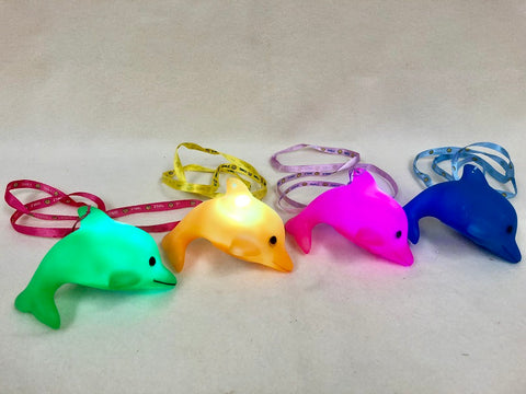 LED Dolphin with Lanyard Necklace - Assorted Colors
