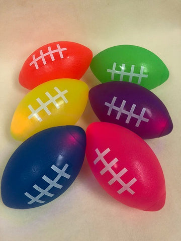 "7"" LED Football - Assorted Colors (Each)"