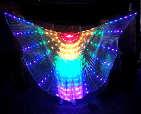 Rainbow Lighted Wand Wings (Each)