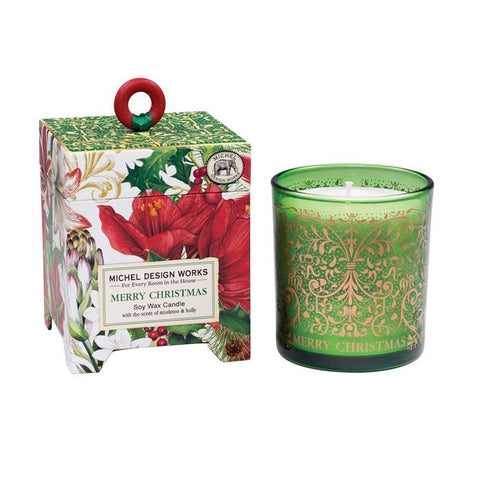 Merry Christmas Soy Wax Candle 6.5oz (Each)