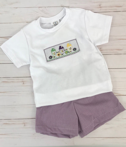 Smocked Snowball Boys Short Set (Each)