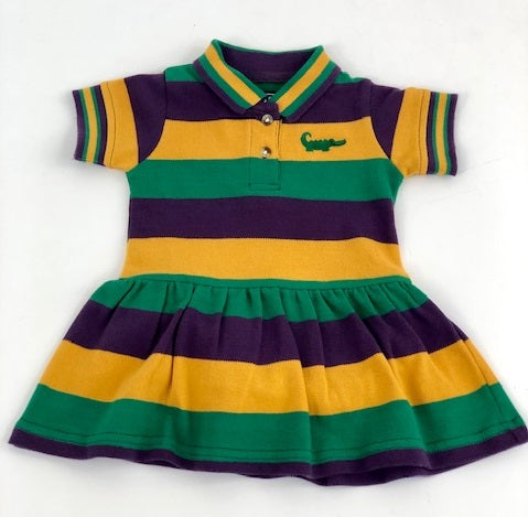 Mardi Gras Traditional Stripe Dress (Each)