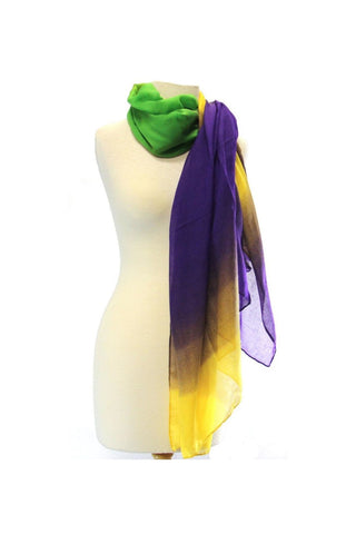 Purple, Green and Yellow Ombre Scarf (Each)