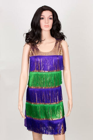 Purple, Green and Gold Flapper Dress (Each)