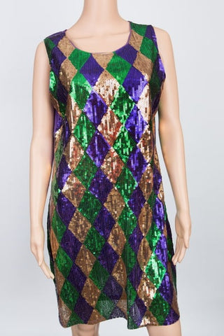 Harlequin Sequin Dress (Each)