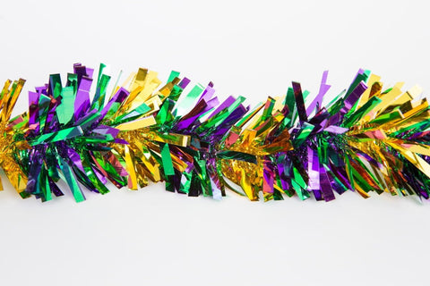 "4"" x 9' Purple, Green and Gold Garland (Each)"