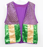 Purple, Green and Gold Mardi Gras Vest (Each)