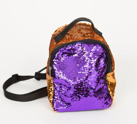 "7"" x 4"" x 10"" Purple, Green and Gold Mini Backpack (Each)"