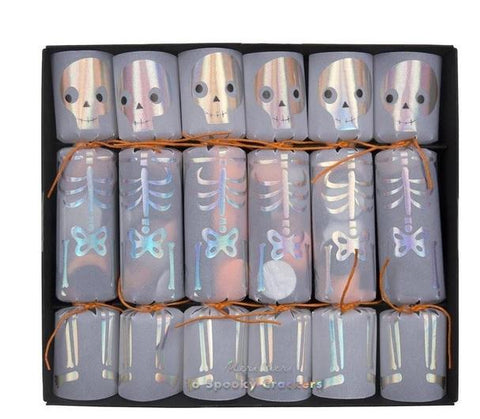 Skeleton Confetti Crackers (Pack of 6)