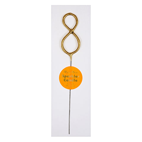 "Mini Gold ""8"" Sparkler Candle (Each)"