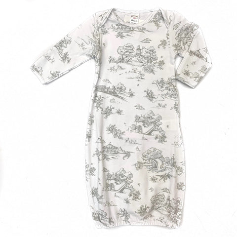 Storyland Toile Baby Gown 3-6M - Grey (Each)