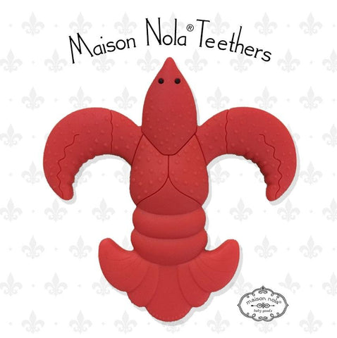 Crawfish Fleur de Lis Teether (Each)