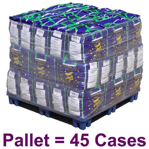 "33"" Round Metallic Purple, Gold and Green Mardi Gras Beads (Pallet - 45 Cases)"