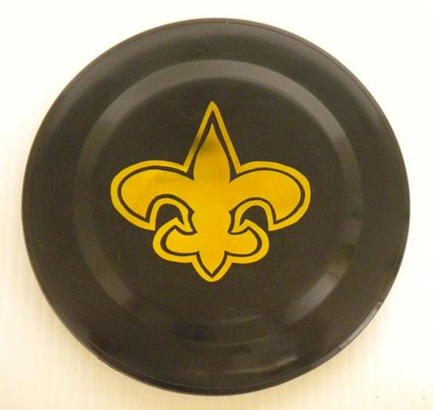 "Black Frisbee with Gold Fleur de Lis Imprint 3.5"" (6 Dozen)"