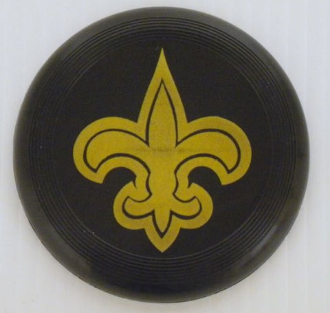 "Black Frisbee with Gold Fleur de Lis Imprint 7"" (Dozen)"