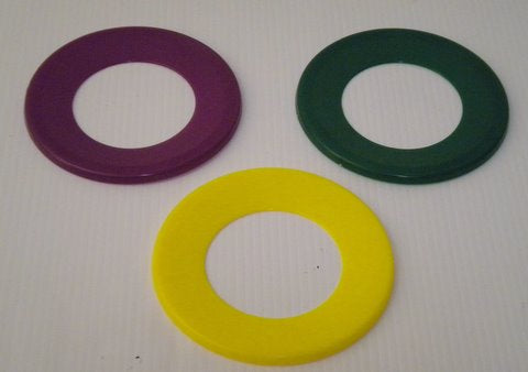 "Purple, Green and Gold Skimmer Ring 5.5"" (Dozen)"