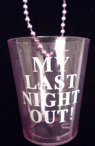 My Last Night Out Shot Glass Necklace