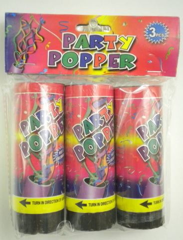 Party Popper (3 Piece Pack)