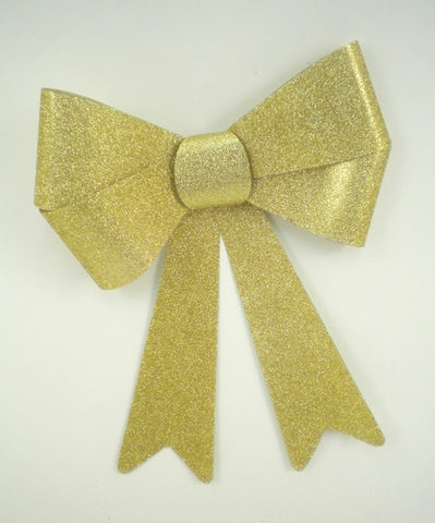 "Gold Glittered Bow 8"" x 11"" (Each)"