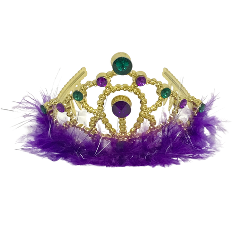 Princess Tiara with Purple Trim (Each)