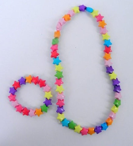 Necklace/Bracelet Stars Multicolor