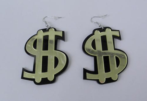 Earrings - Fish Hook, Dollar Sign (Dozen)