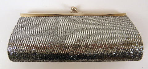 "Silver Disco Clutch Purse 8"" x 3"" with Chain (Each)"
