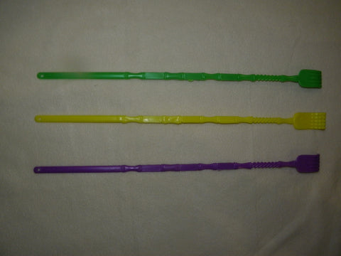 "16"" Backscratcher Purple, Green and Gold (Dozen)"