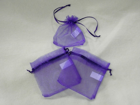 "Purple Organza Bag 4"" x 4""(Dozen)"